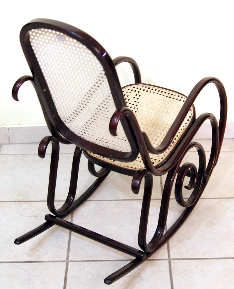 Thonet jugendstil kinder schaukel stuhl art nouveau for Rocking chair schaukelstuhl