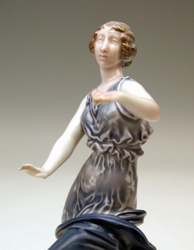 Rosenthal Figur Tänzerin Lady Dancer Tanagra Richard Förster MNR 175 ...