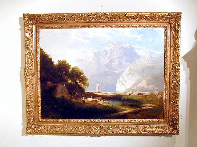 josef thoma 1828 1899 biedermeier wiener maler l leinen hallst tter see um 1840 ebay. Black Bedroom Furniture Sets. Home Design Ideas
