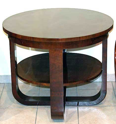 art deco garnitur runder tisch zwei fauteuils round table. Black Bedroom Furniture Sets. Home Design Ideas