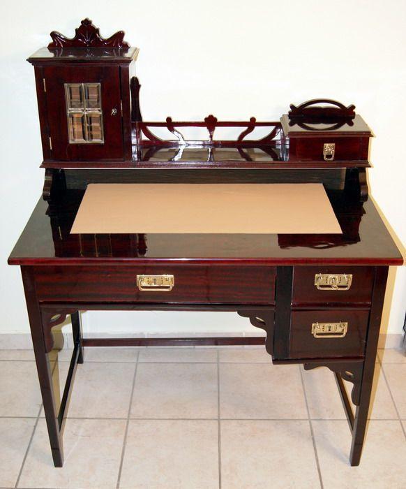 jugendstil schreibtisch thonet sessel art nouveau desk writing table wien 1900 ebay. Black Bedroom Furniture Sets. Home Design Ideas