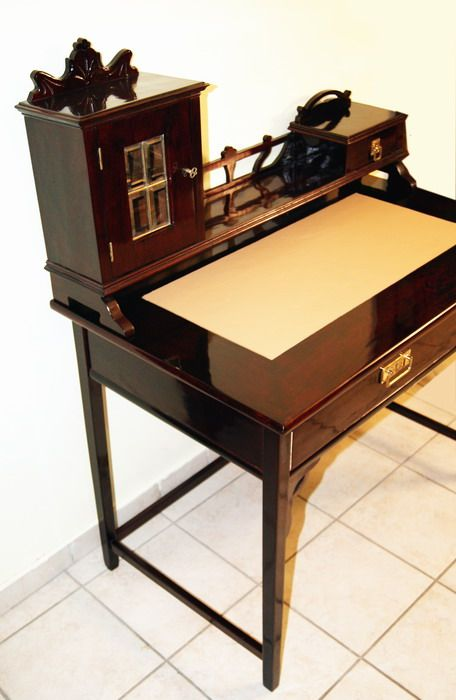 jugendstil schreibtisch thonet sessel art nouveau desk writing table wien 1900 ebay. Black Bedroom Furniture Sets. Home Design Ideas