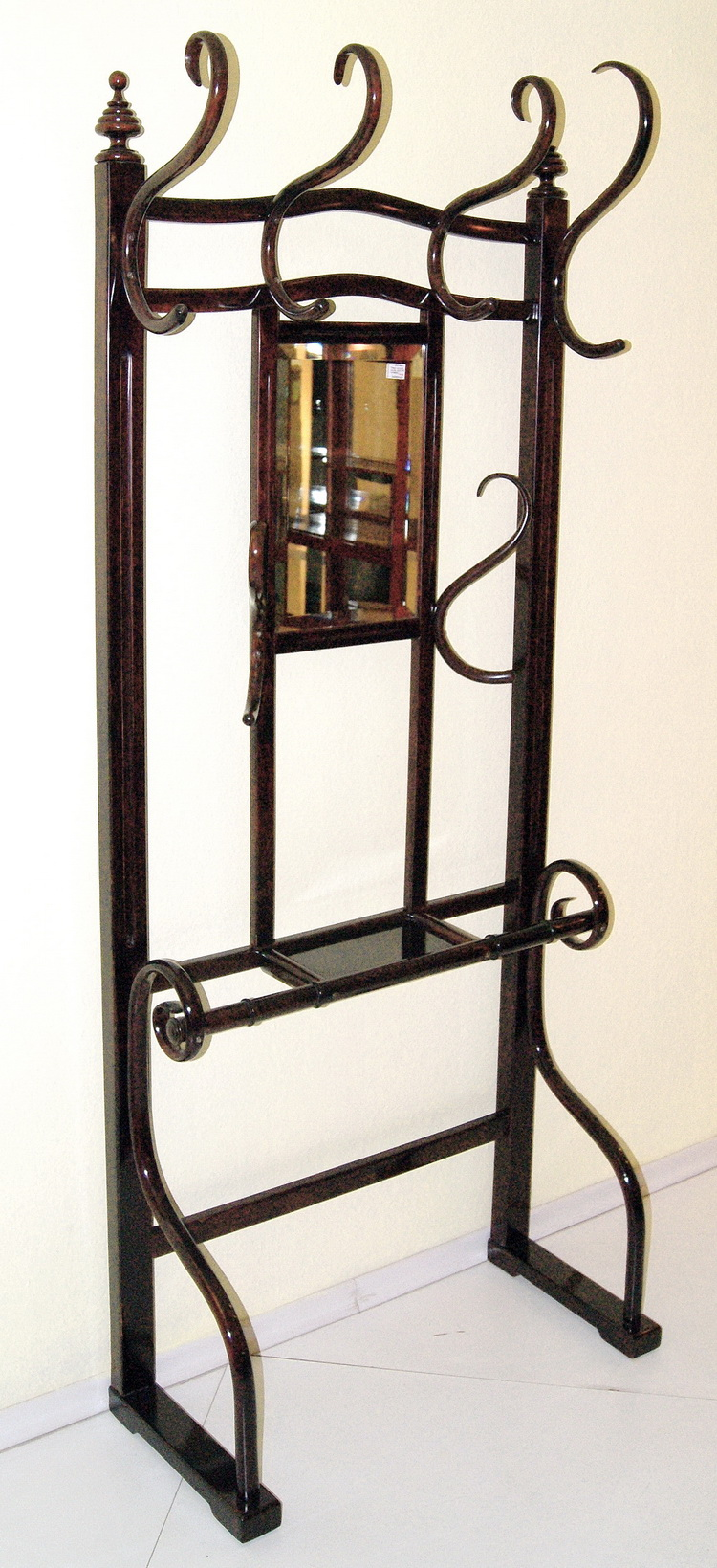 kohn jugendstil wand garderobe thonet art nouveau coat rack mnr 1086 um 1905 ebay. Black Bedroom Furniture Sets. Home Design Ideas