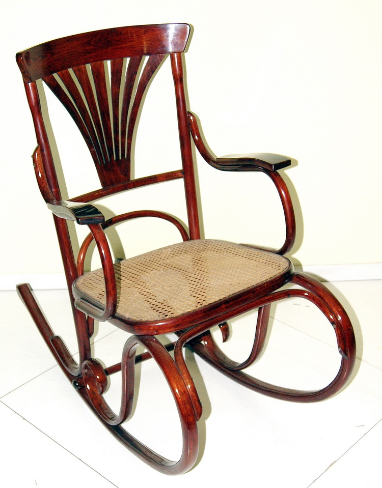 j j kohn jugendstil schaukel stuhl art nouveau rocking chair politiert um 1900. Black Bedroom Furniture Sets. Home Design Ideas