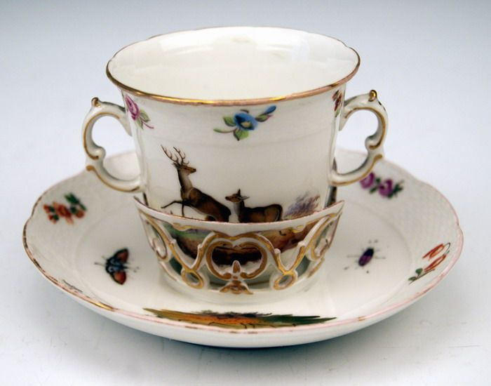 kpm berlin deckel tasse trembleuse watteau tier blumen motive um 1763 1780 ebay. Black Bedroom Furniture Sets. Home Design Ideas
